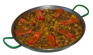 Arroz de magro con verduras
