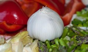 Ingredientes del arroz de magro con verduras